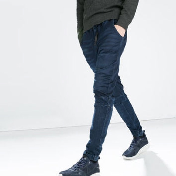 220d62fd63 Soft Denim by Zara Man Jogger Fit Drawstring Pants